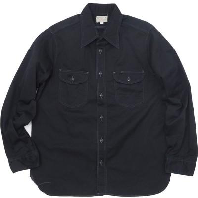 BUZZ RICKSON'S (バズリクソン)ヘリンボーン ワークシャツ ブラック [BR26081]