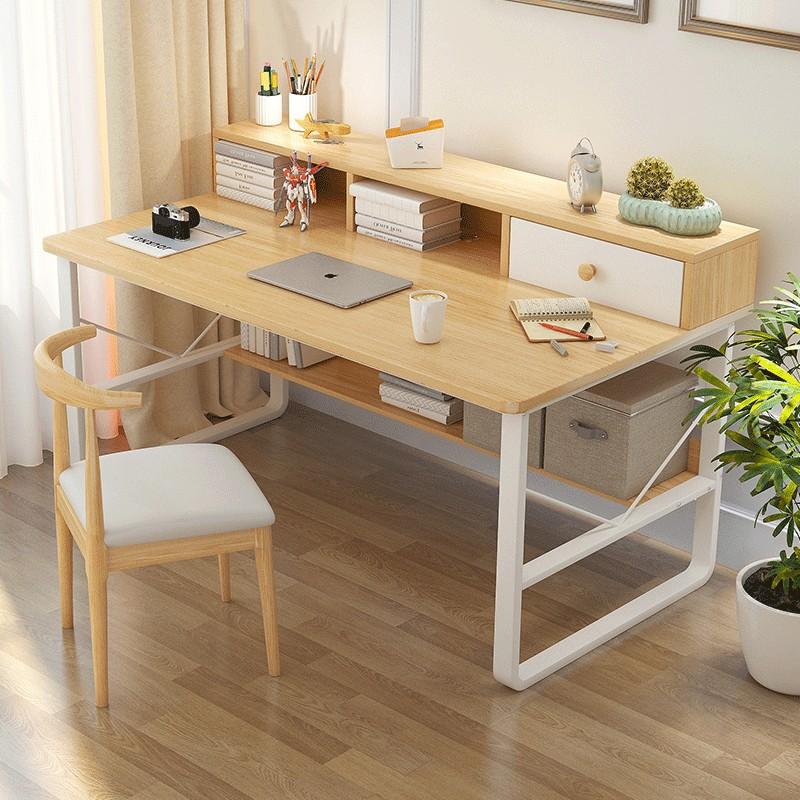 【E家工廠】 書桌  電腦桌 100CM工作桌 抽屜收納 DIY寫字桌 辦公桌 大桌面收納桌 免運