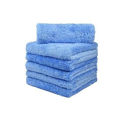CARCAREZ プレミアムマイクロファイバータオル 車乾燥 洗車 細部 バフ研磨タオル 豪華なエッジレス マイクロファイバークロス付き 450GSM