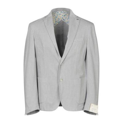 BARBATI テーラードジャケット ライトグレー 50 コットン 99% / ポリウレタン 1% テーラードジャケット