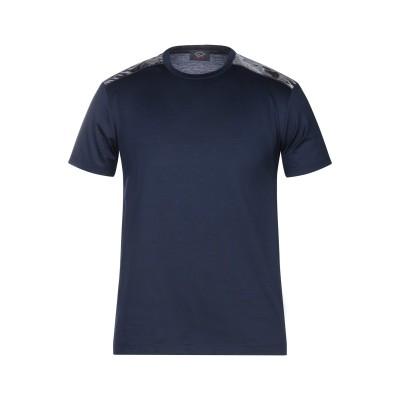 ポール・アンド・シャーク PAUL & SHARK T シャツ ダークブルー M コットン 100% T シャツ