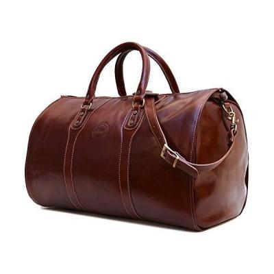新品Cenzo Garment Duffle Travel Bag Suitcase in Brown Full Grain Leather送料無料