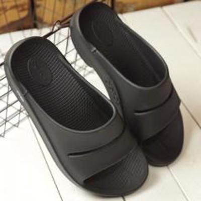 OOFOS(ウーフォス)送料無料 ウーフォス OOFOS ウーアー Ooahh メンズ レディース ランニング スライドサンダル リカバリーサンダル 靴 Black ブラック系 [5020020 SS19]