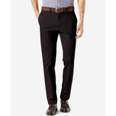 ドッカーズ メンズ カジュアルパンツ ボトムス Men's Signature Lux Cotton Slim Fit Stretch Khaki Pants Black