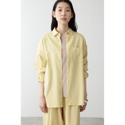 【ヒューマンウーマン/HUMAN WOMAN】 ◆FOOD TEXTILEサテンシャツ