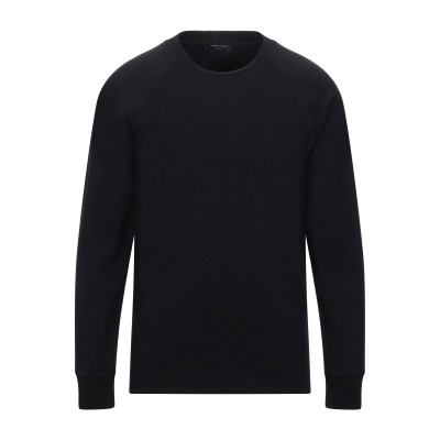 ロベルト コリーナ ROBERTO COLLINA スウェットシャツ ブラック 52 コットン 93% / ナイロン 6% / ポリウレタン 1%