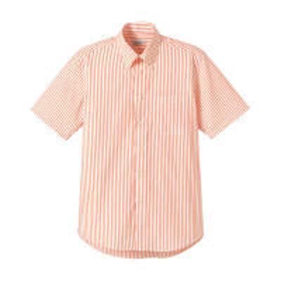 ボンマックスFACE MIX(フェイスミックス) ユニセックス 小さいサイズ 半袖ストライプシャツ オレンジ SS(直送品)