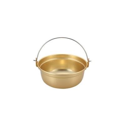 アルマイト ツル付段付鍋 27cm【 鍋全般 】