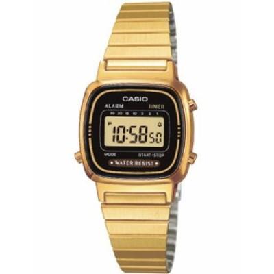 腕時計 カシオ レディース LA670WGA-1D Ladies Gold Tone Digital Watch RETRO