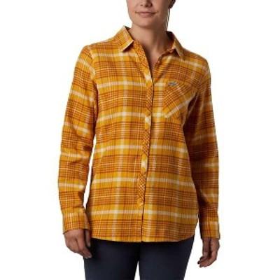 コロンビア レディース シャツ トップス Columbia Women's Simply Put II Flannel Shirt Raw Honey Dobby