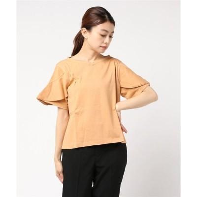 tシャツ Tシャツ デザインスリーブボートネックTシャツ