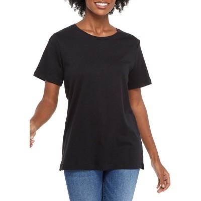 キムロジャーズ Tシャツ トップス レディース Women's Short Sleeve Cotton T-Shirt Black