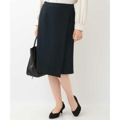 OFUON / オフオン 【洗える】サーモライトラップ風スカート