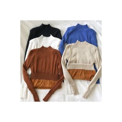 【送料無料】単一色 厚さプラス ボトムシャツ 着やせ 韓国風 冬 レディース 何でも似合う 襟 着やせ | 346770_A64132-5320207