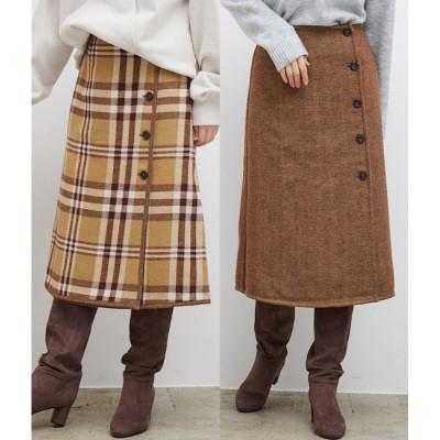 【ロペピクニック/ROPE' PICNIC】 ビッグチェックリバーシブルスカート