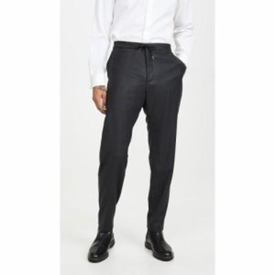 ヒューゴ ボス BOSS Hugo Boss メンズ スラックス ボトムス・パンツ Drawstring Half Elastic Trousers Dark Grey Heather