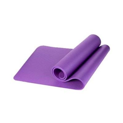 Cicilin ヨガマット トレーニングマット エクササイズ マット 軽量 水洗い可能 ヨガ マット 10mm ストラップ付き (パープル)