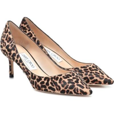 ジミー チュウ Jimmy Choo レディース パンプス シューズ・靴 Romy 60 leopard-print calf-hair pumps Natural Mix