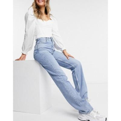 マンゴ Mango レディース ジーンズ・デニム ワイドパンツ ボトムス・パンツ Wide Leg 90S Jeans In Light Blue ブルー