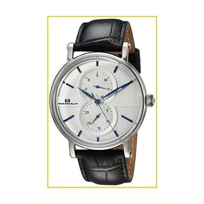 Oceanaut Men's Lexington Stainless Steel Quartz Watch with Leather Strap, Black, 21 (Model: OC0341)並行輸入品