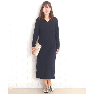 【アミュレット】 マーメイドスタイルワンピース韓国ファッションレディース長袖春用秋用タイト レディース ブラック L Amulet