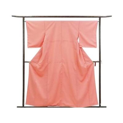 リサイクル着物 色無地 正絹ピンク地袷色無地未着用品