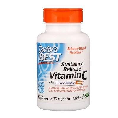 PureWay-C配合の持続放出ビタミンC、500 mg、60錠