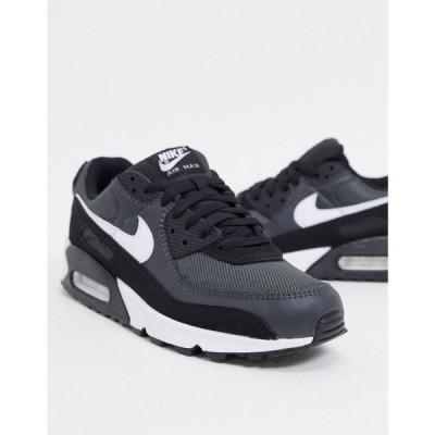 ナイキ Nike メンズ スニーカー エアマックス 90 シューズ・靴 Air Max 90 Recraft trainers in black/grey ブラック