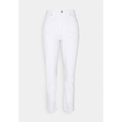 ノイジーメイ デニムパンツ レディース ボトムス NMISABEL MOM - Straight leg jeans - bright white