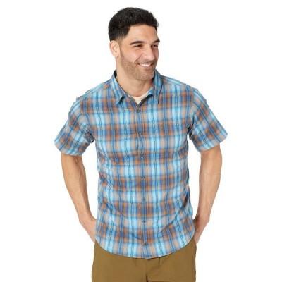 シェルパ シャツ トップス メンズ Jhapa Short Sleeve Shirt Neelo Blue