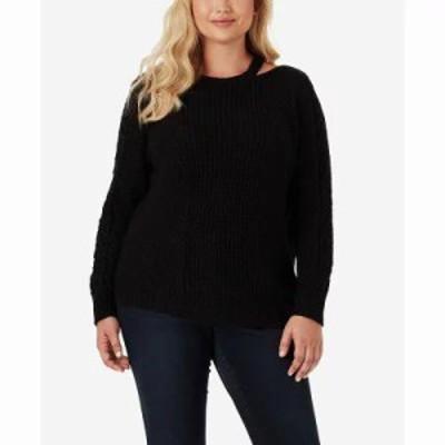 ジェシカシンプソン ニット・セーター Trendy Plus Size Oasis Cutout-Neck Sweater Black