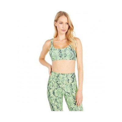 ALO エーエルオー レディース 女性用 ファッション 下着 ブラジャー Vapor Snakeskin Bra - Neon Lime