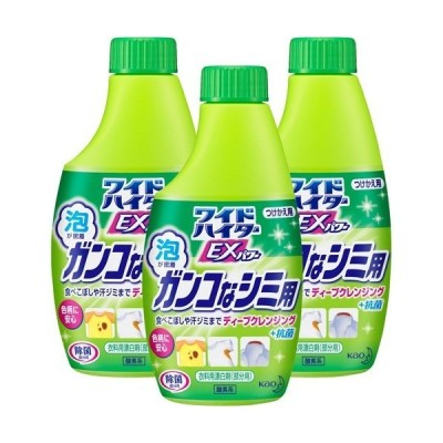 ワイドハイター 漂白剤 クリアヒーロー ラク泡スプレー 付け替え ( 300ml*3コセット )/ ハイター ( 漂白剤 部分用 つけかえ 付替 詰替 まとめ買い )