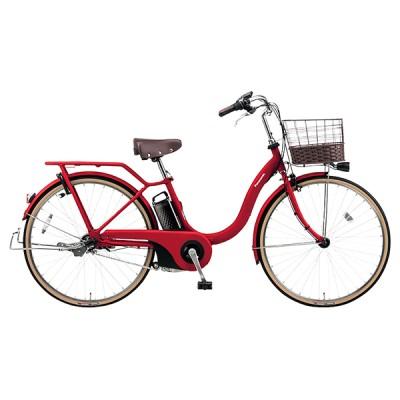 PANASONIC BE-ELSL632-R2 カームレッド ティモ・L [電動アシスト自転車(26インチ・内装3段)] 電動自転車