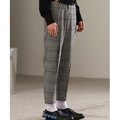 chuclla / 【MIX SEVEN】【2021SS】Glen check Tapered Pants M8K24 MEN パンツ > スラックス