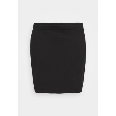 レディース ファッション BASIC - Mini sweat skirt - Mini skirt - black