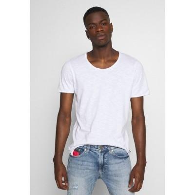 ジャック アンド ジョーンズ Tシャツ メンズ トップス JJDETAIL TEE U NECK - Basic T-shirt - white