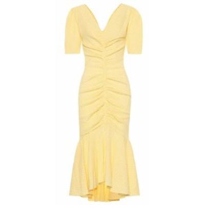 スタッド Staud レディース ワンピース ワンピース・ドレス Panier cotton-blend gingham dress Yellow Gingham