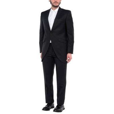 CARLO PIGNATELLI CLASSICO スーツ ブラック 54 バージンウール 65% / シルク 35% スーツ