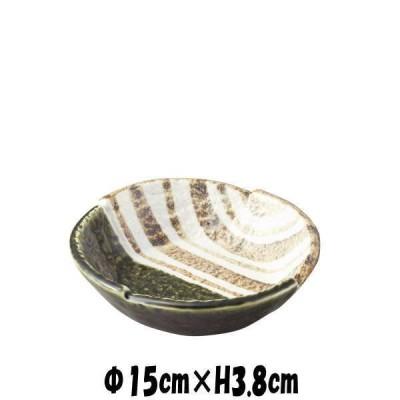 織部ストライプ5.0鉢 陶器磁器の食器 おしゃれな業務用和食器 お皿中皿深皿