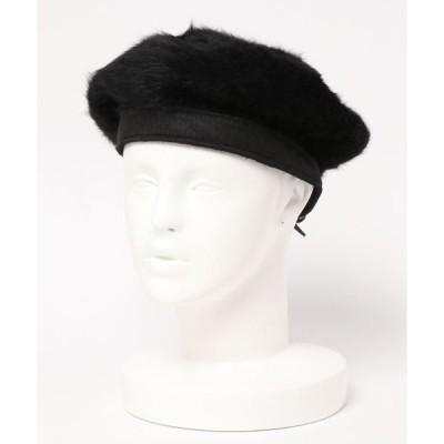 帽子 フェイクファーベレー帽