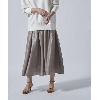 LAUTREAMONT/ロートレアモン 【WEB別注】ヴィンテージ風のギャザースカート ライトグレー 9号
