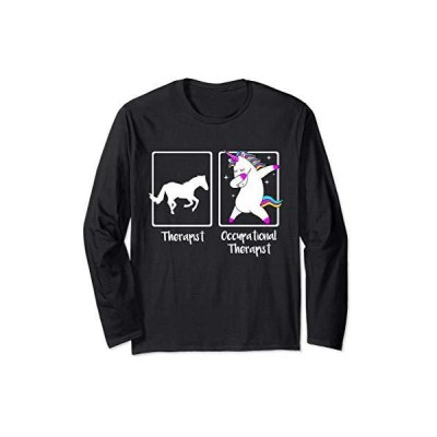 Dabbing Unicorn Occupational Therapist Shirt Cool OT Gift 長袖Tシャツ