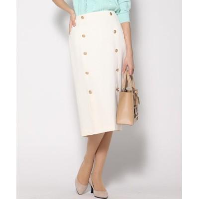 【ビッキー】 ツイードボタン使いタイトスカート レディース ホワイト S VICKY