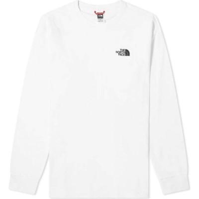 ザ ノースフェイス The North Face メンズ 長袖Tシャツ トップス Long Sleeve Red Box Tee White