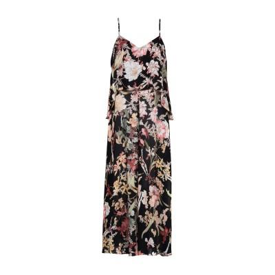 I'M ISOLA MARRAS 7分丈ワンピース・ドレス ブラック 44 ポリエステル 100% 7分丈ワンピース・ドレス