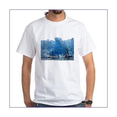 CafePress 3 Patagonia Blue Ice T Shirt 100% Cotton T-Shirt, White[並行輸入品]