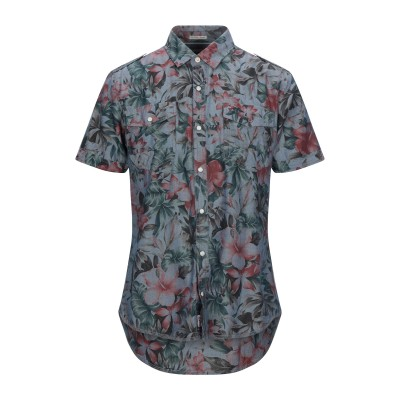 TOMMY JEANS シャツ ブルーグレー L コットン 100% シャツ