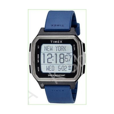 Timex Men's Command Urban 47mm Quartz Sport Watch with Silicone Strap, Blue, 22 (Model: TW5M28800JV)--並行輸入品--