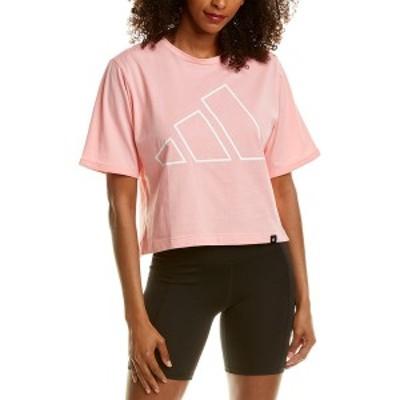 アディダス レディース Tシャツ トップス Adidas T-Shirt glory pink